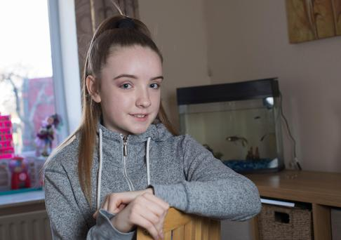 Sarah-Ann Clyne-Mitchell age 12 who suffers with scoliosis. Photo: Fergal Phillips