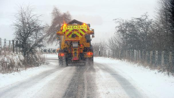 Forecasters at Met Éireann expect snow and sleet in hilly areas across the western side of the country. Stock picture