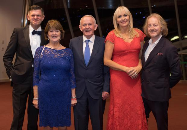 Guests: Brendan O'Connor, Carmel and Leslie Buckley, Miriam O'Callaghan and Barry Egan. Photo: Fergal Phillips