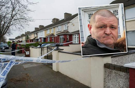 Inset: Mark Richardson. Scene of fatal stabbing in Artane (Photo: Doug.ie)