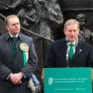 VOTES: Taoiseach Enda Kenny and Minister of State for the Diaspora, Joe McHugh, in Philadelphia Picture: PA