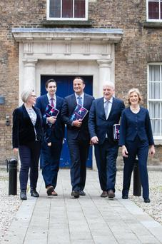 Government ministers at the launch of the report 'Making Work Pay for People with Disabilities' Photo: SON Photography