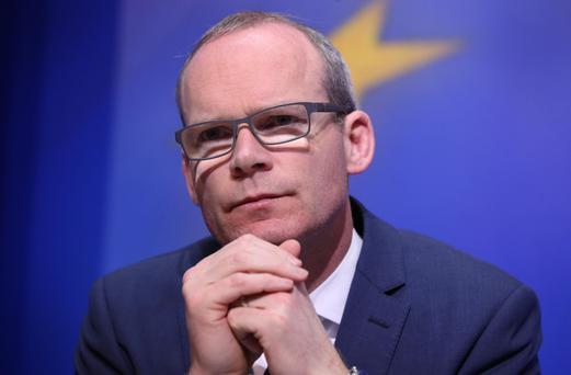 Big boost: Simon Coveney seeking backing of Michael Noonan Photo: Damien Eagers / INM
