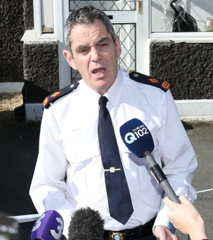 Appeal: Superintendent Martin Fitzgerald addresses the media