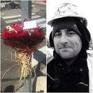 Flowers laid at the scene where tragic dad-of-two Adrian O'Kane was killed