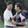 Padraig Harrington and Sergio Garcia: relationship now on much better footing Picture: AP
