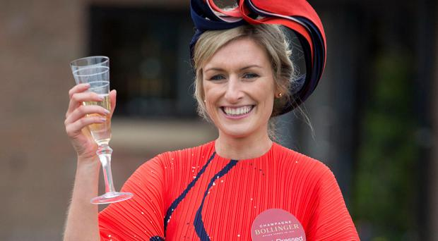 Winner of the Best Dressed Lady competition Ann-Marie Phelan, from Kilkenny Photo: Colin O'Riordan