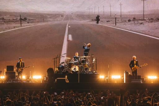 Loud and proud: U2 open their Joshua Tree 30-year anniversary tour at the BC Place Stadium in Vancouver last Friday night