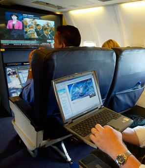 Curbs on carrying electronic devices aboard aircraft on some services from the Middle East and North Africa already affect 350 US-bound flights per week. Photo: PA