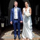 BEST DAY OF THEIR LIVES: Alannah McGurk with her new husband Fiachra Breathnach Photo: Tony Gavin