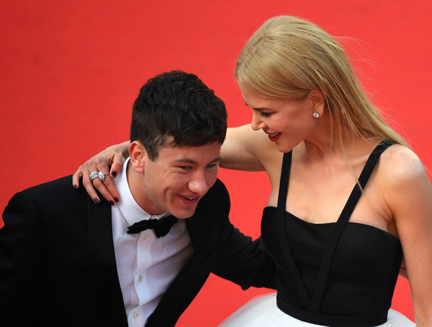 Dublin actor Barry Keoghan laughs with co-star Nicole Kidman on the red carpet for the screening of Irish film 'The Killing of a Sacred Deer' at the Cannes Film Festival. Photo: Getty Images