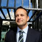Social Protection Minister Leo Varadkar arriving at Leinster House for a Cabinet meeting yesterday Photo: Tom Burke