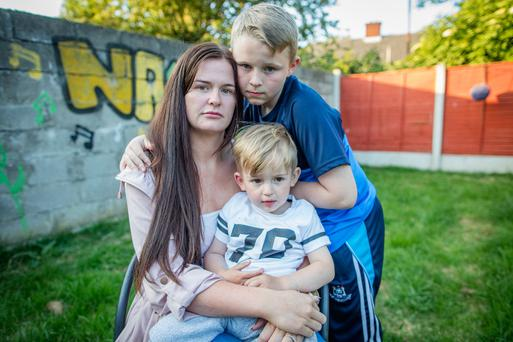 Cheryl Barnewell and her sons Clayton and Rocco Picture: Arthur Carron