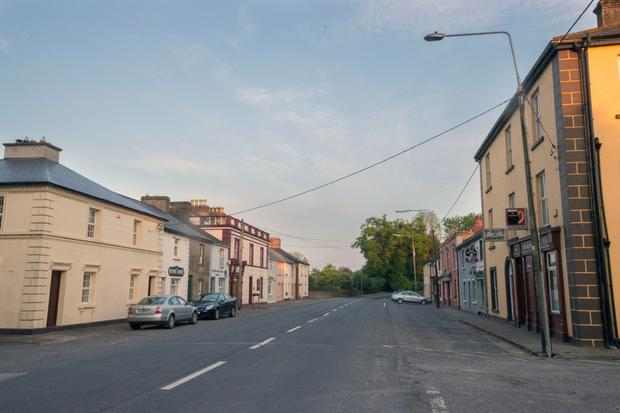 The quiet main street of Dundrum