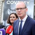 Still standing by her man: Kate O'Connell refused to back down after her attacks on Leo Varadkar's backers in support of Simon Coveney Photo: Tom Burke
