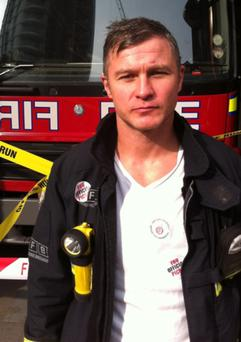 Firefighter Damian Magee, who battled the fire at Grenfell Tower