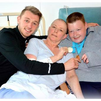 Ann with her sons Conor and Colin
