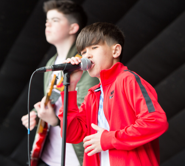 Young performers on stage