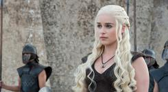 Emilia Clarke as Daenerys in 'Game of Thrones'