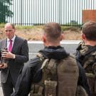 Defence Forces during a visit to the Curragh Camp by Defence Minister Paul Keogh