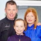 Paul Clements with his wife Margaret and daughter Hannah