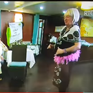 Fr. Richard Geoghegan dressed in drag Photo: RTE screengrab