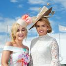 Race-goers enjoy the Galway Races.