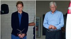 Molly Martens and her father Thomas Martens being led away from court in handcuffs Photo: Donnie Roberts