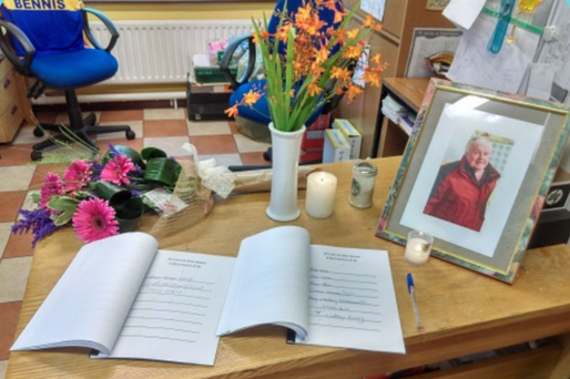 A book of condolences was opened for John Nestor at Patrickswell National School