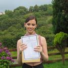 Emma Dunnion (20) with her Leaving Cert results
