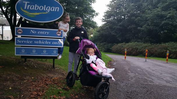 Patricia Goughran from Drogheda and her three kids; Kyle (12), Kayleigh (2) and Aoife (22-months) booked the holiday as a break before school starts