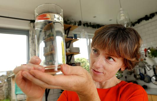 Niamh Lunny found the tap water in her Crumlin home contained microplastic fibre. Photo: Gerry Mooney