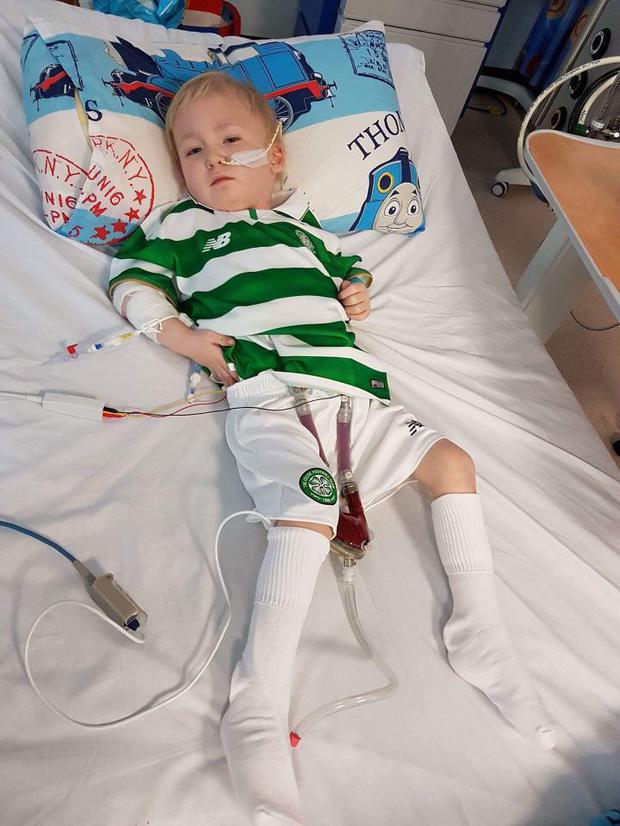 Peter (4) received a heart transplant