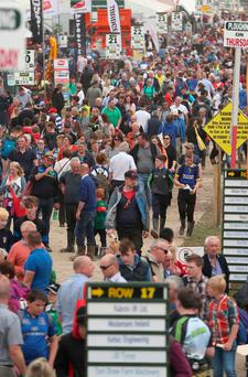 A record crowd descended on the Ploughing yesterday