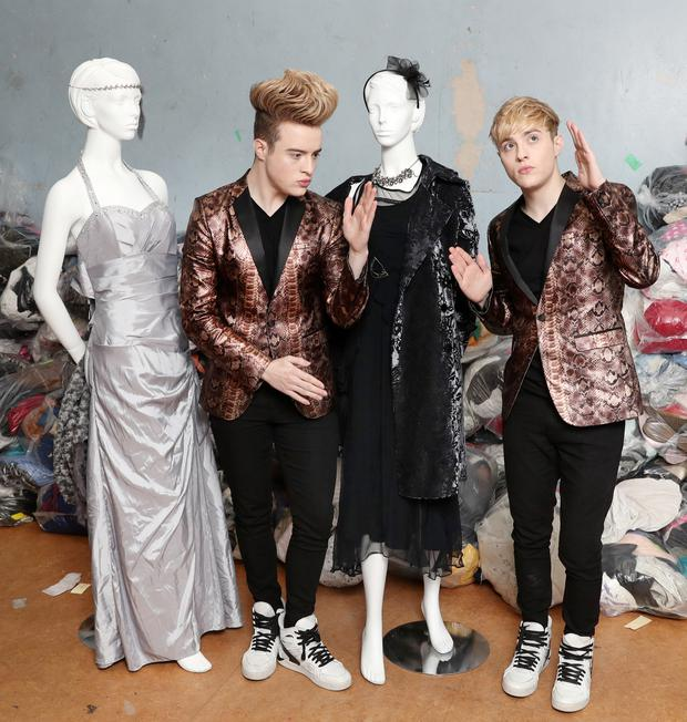 Jedward launch the 'Donate with style, volunteer with passion' campaign for St Vincent de Paul