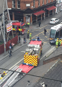 The incident happened on Queen Street Photo: Olivia Brophy