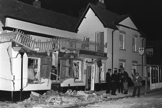 The scene of the Guildford pub bombing