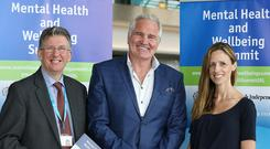 Brent Pope at the Mental Health and Wellbeing Summit. Photo: Frank McGrath