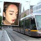 The teenage girl was attacked at a Luas stop