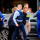 Moment man is arrested at CityWest Photo: Gerry Mooney