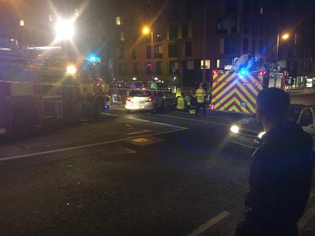 Emergency services are at the scene Photo: Twitter @CathalJourno