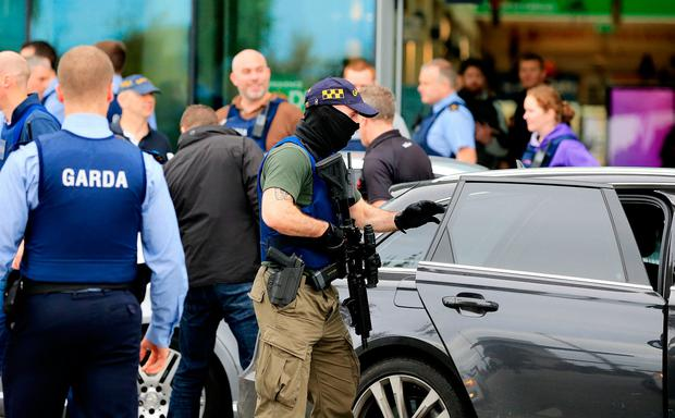 The scene in CityWest shopping centre following a major manhunt. Photo: Gerry Mooney