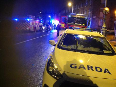 Emergency services are at the scene at Mountjoy Square