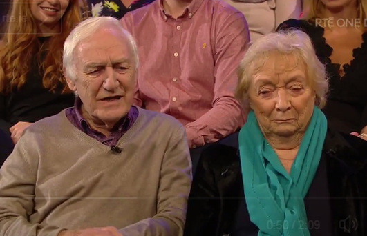 Des and Mona are married 56 years Photo: RTE