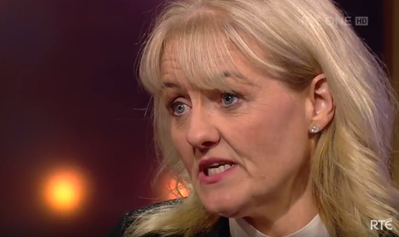 Karen Leech Photo: Screengrab from Ray D'Arcy show on RTE