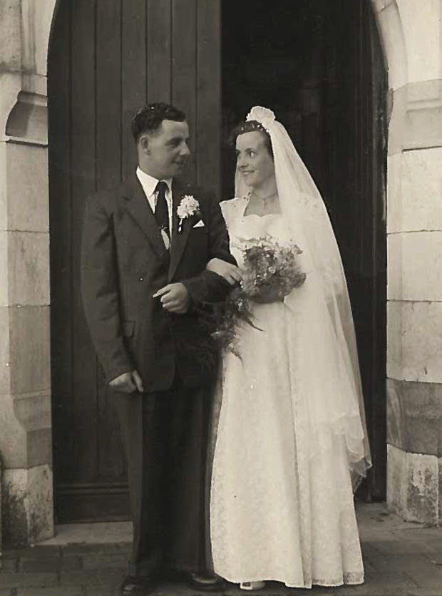 All about family: Gabrielle's parents on their wedding day