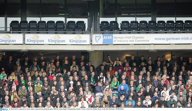 A general view of the empty corporate boxes at Croke Park, Dublin. Picture credit: Ray McManus / SPORTSFILE