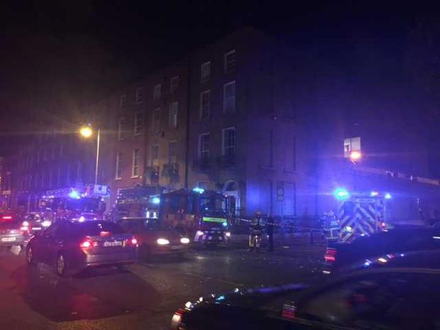 Dublin Fire Brigade battle the blaze at Gardiner Street