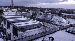 Snow this morning in Athlone. Photo: Akash Bhattacharya,