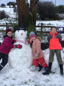 Snow in Bohola, Co Mayo Photo: Avril Byrne